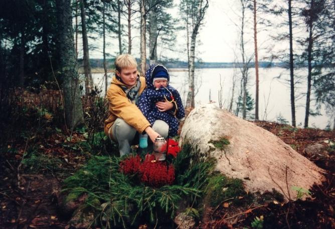 Pepen haudalla 21.10.1999